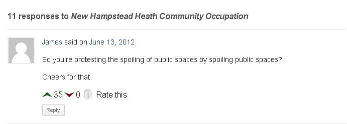 Comment on the Occupy blog