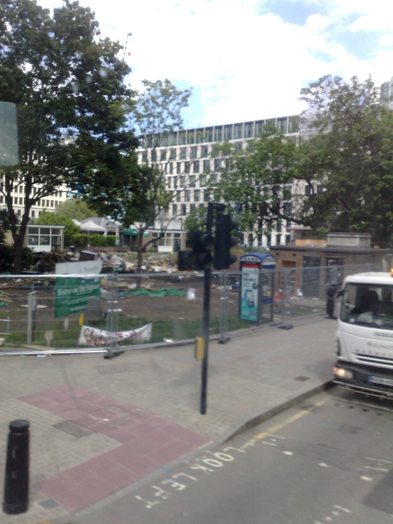 Finsbury Square after the Occupy tents moved out
