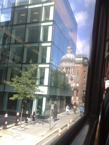 Riding a bus around London to anywhere