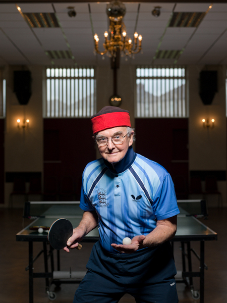 Les D'Arcy, World Over 80s Ping Pong Champion