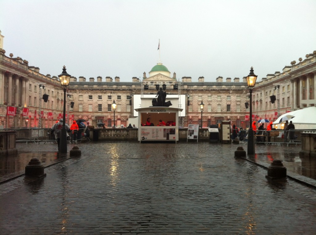 Somerset House Film4 Summer Screen (in the rain)