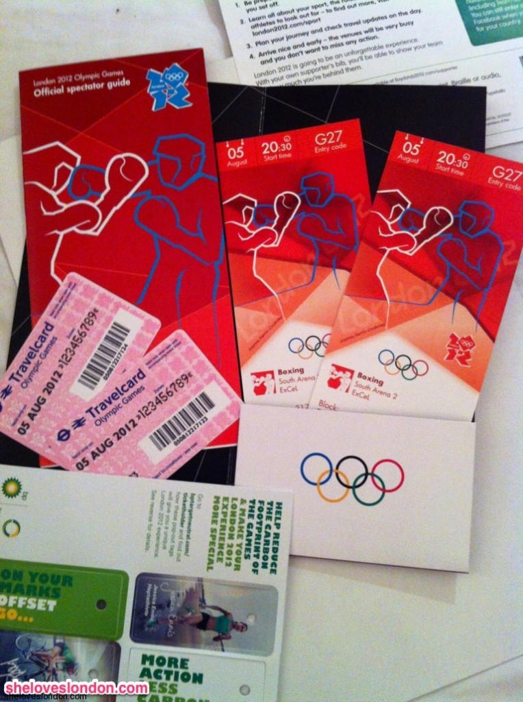 London 2012 Olympic Boxing tickets and travelcard