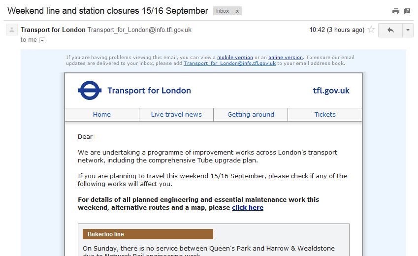 The Return of TFL Engineering Works