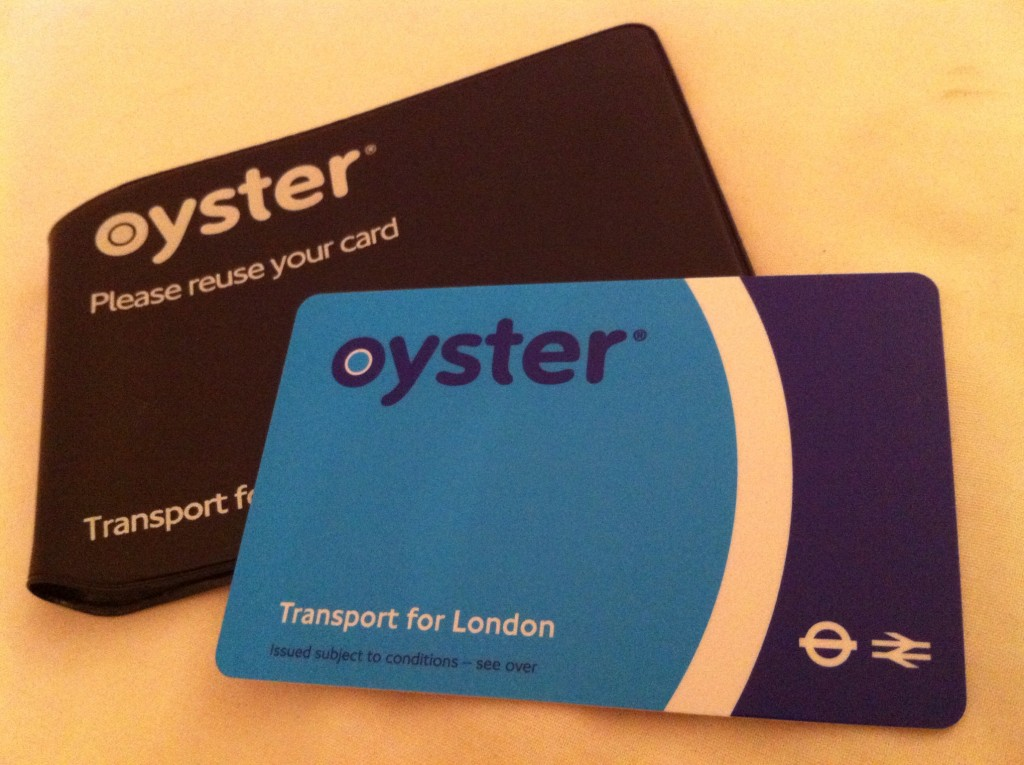 Oyster card and holder