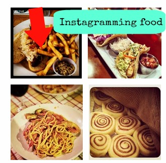 Instagrammed pictures of food
