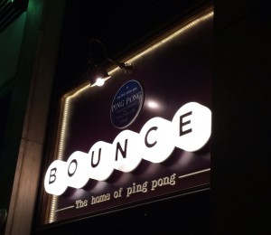 Let's Play Ping Pong at Bounce in Holborn. Now THAT'S a Nice Idea.