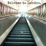 Welcome to London - tube escalators