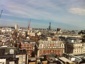 View from the Cavendish Hotel, Mayfair, London