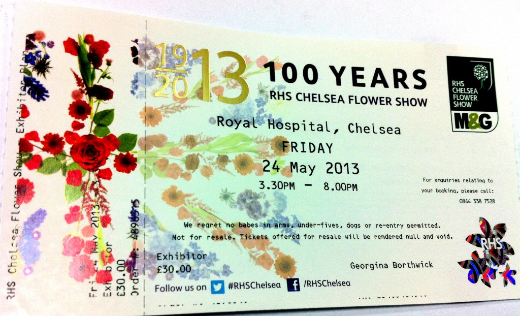 chelsea flower show ticket