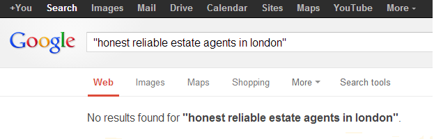 honest reliable estate agents in London