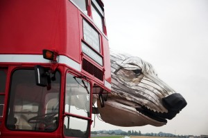 What's That? Oh, Just a Polar Bear Next to a London Bus.