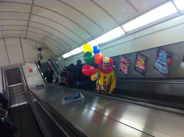 Clown on the tube.