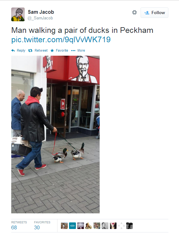 Meanwhile, in Peckham…
