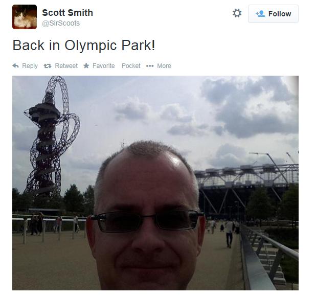 olympic park selfie