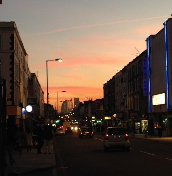 Kingsland Road sunset