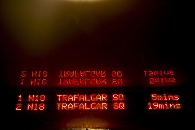 Trafalgar Square N18 night bus