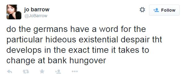 bank hungover