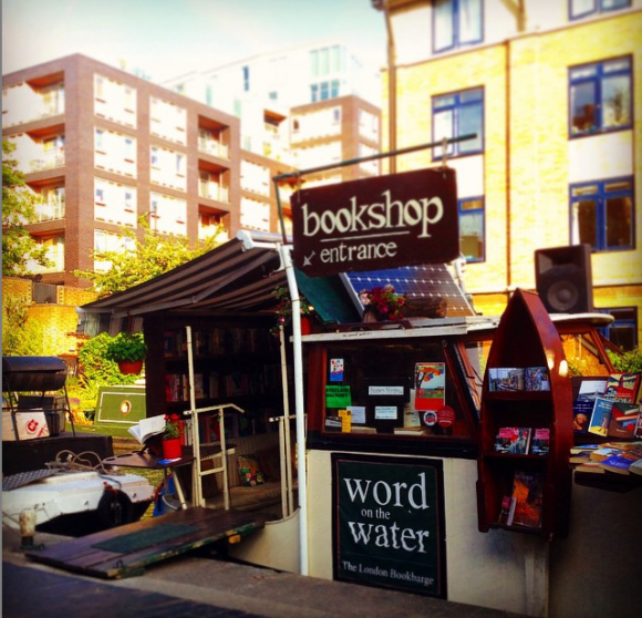 Bookbarge on the Regents canal