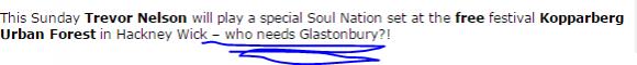 who needs glastonbury