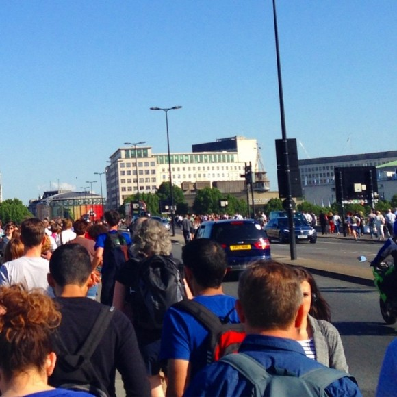 waterloo bridge in a tube strike